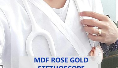mdf rose gold stethoscope