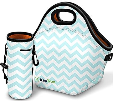 Aqua Chevron Lunchbag