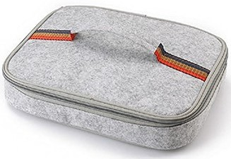 Flat Felt Gray Lunch Box