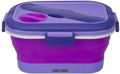 Heated Purple Lunch Box