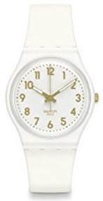 Swatch White Bishop White Dial Unisex Watch