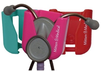 Three Mitten Medical Professional Stethoscope Holders with Scrub-Lock