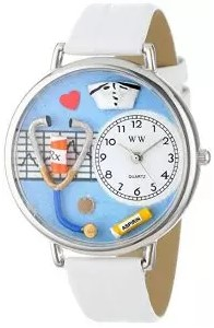 Whimsical Watches White Leather Watch