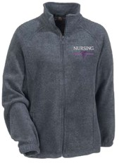 monogrammed nursing fleece