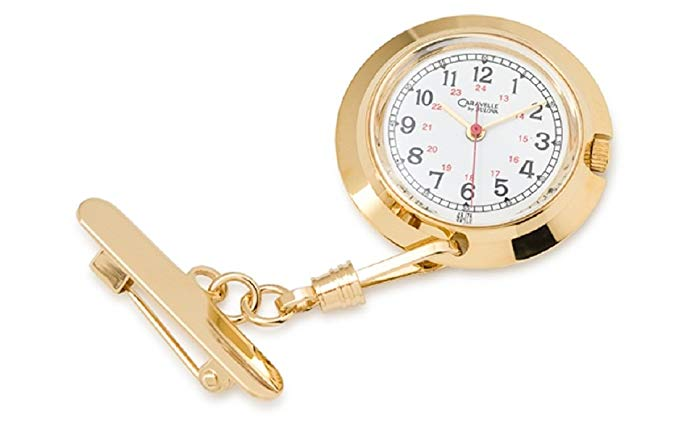 Caravelle by Bulove Nurse's Lapel Pin Watch